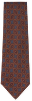 Chanel Vintage Navy Printed Wool Tie