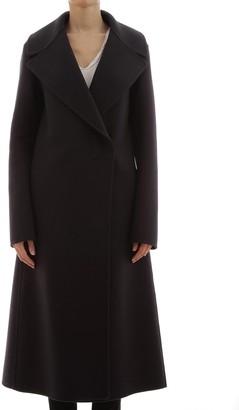 Jil Sander Wool Coat Oversize In Blue