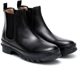 LEGRES Garden leather ankle boots