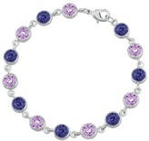 Swarovski Women's Silver Plated Round Bracelet with Crystals from Purple (6mm)