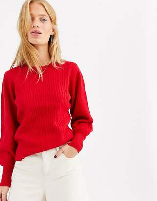Selected long sleeve jumper-Red