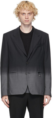 Givenchy Black and Grey Wool Faded Blazer