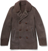 Boglioli Double-Breasted Shearling Coat