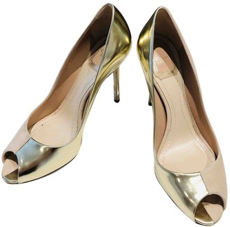 Christian Dior Gold Leather Heels
