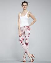 J Brand Jeans 835 Mid-Rise Skinny Floral-Print Jeans