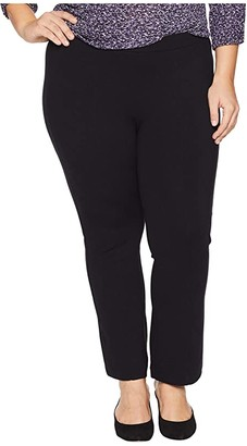 NYDJ Plus Size Plus Size Cropped Boot Pull-On in Black (Black) Women's Jeans
