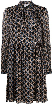 Blumarine Linked Circle Print Dress