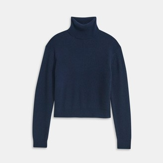 Theory Cashmere Solid Turtleneck Sweater