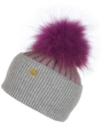4775edae4 Popski London Angora Pom Pom Hat - Thistle-whisper Grey