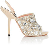 Rochas WOMEN'S EMBELLISHED SUEDE & LEATHER SLINGBACK SANDALS