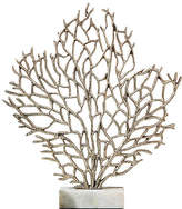 """One Kings Lane 23"""" Anguilla Coral Sculpture - Silver/White"""