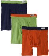 Fruit of the Loom 3Pack Boys Covered Waistband Boxer Briefs Underwear M