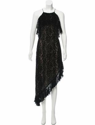 Alice + Olivia Sleeveless Velvet Dress Black