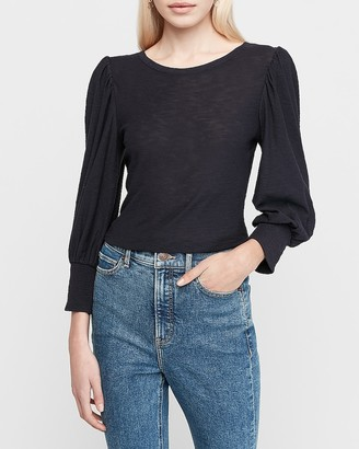Express Puff Shoulder Long Sleeve Tee