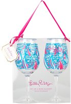 Lilly Pulitzer Acrylic Wine Glass Set - Red Right Return