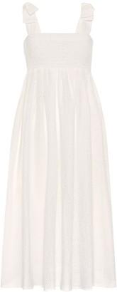 Marysia Swim Sicily smocked cotton midi dress