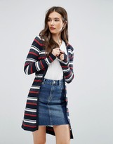 Brave Soul Striped Knit Cardigan