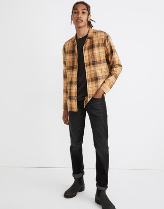 Madewell Brushed Cotton Easy Camp Shirt in Oxley Plaid