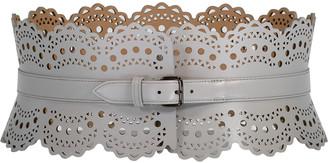 Alaia Grey Wide Waist Belt