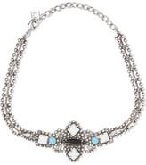 Dannijo Glorenza Oxidized Silver-plated Swarovski Crystal Choker - one size