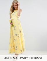 Asos Wedding Maxi Dress In Sunshine Floral Print
