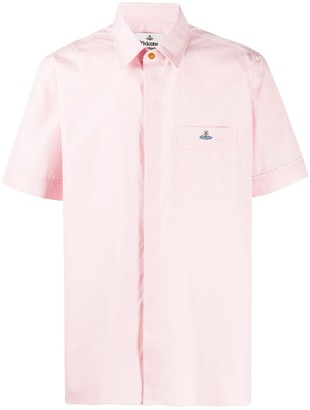 Vivienne Westwood Orb embroidered cotton shirt