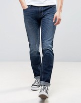 Sisley Slim Fit Jeans In Washed Indigo