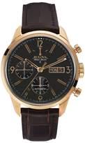 Bulova Men's Accu Swiss Automatic Leather Watch - 64C106