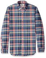 Goodthreads Amazon Brand Men's Slim-Fit Long-Sleeve Plaid Oxford Shirt