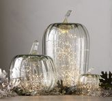 Pottery Barn Recycled Glass Pumpkin Candle Cloches