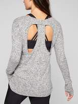 Athleta Luxe Cut Out Pose Top