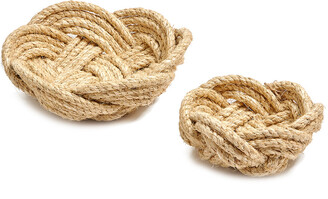 Twos Company Two's Company Thera Set Of 2 Rope Bowls