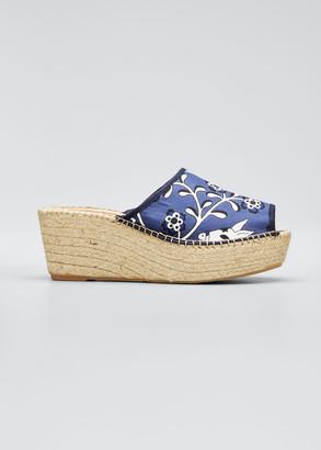 Respoke Brianda Floral-Print Wedge Espadrille Sandals