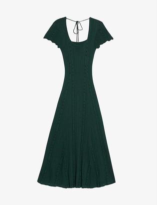 Sandro Marly knitted maxi dress