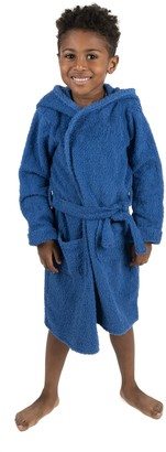 Leveret Dark Blue Bathrobe (Baby, Toddler, Little Kids, & Big Kids)