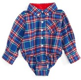 Andy & Evan Infant Boy's Flannel Shirtzie Bodysuit
