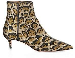 Aquazzura Women's Quant Leopard Booties