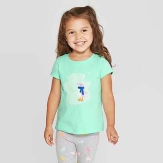 Cat & Jack Toddler Girls' Short Sleeve 'Penguin' T-Shirt - Cat & JackTM Mint