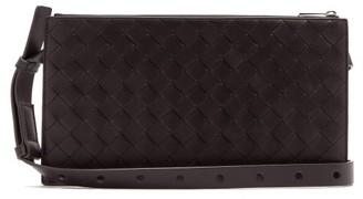 Bottega Veneta Intrecciato-woven Leather Belt Bag - Mens - Black
