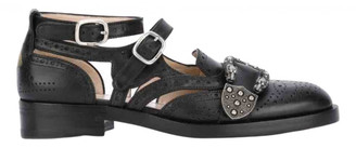 Gucci Queercore Black Leather Flats