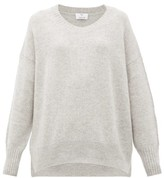 Allude Oversized Cashmere Sweater - Womens - Light Grey