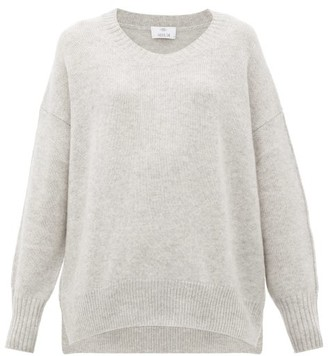 Allude Oversized Cashmere Sweater - Light Grey