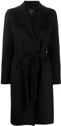 Theory Belted Midi Coat