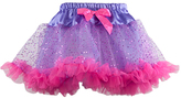 Purple & Hot Pink Sparkle Ruffle-Hem Tutu Toddler & Girls - Toddler & Girls