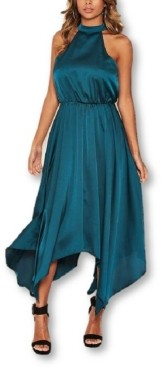 AX Paris Women's Satin Sleeveless Maxi Dress