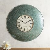 Pier 1 Imports Aqua Mosaic Wall Clock