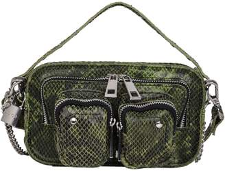 Helena Nunoo Snakeskin-Print Leather Crossbody Bag