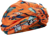 DEE DI VITA Orange Silk Farfelle Turban