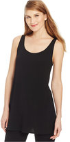 Eileen Fisher Silk Jersey Tunic Tank Top
