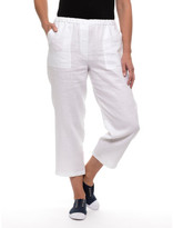 Yarra Trail Washer Linen Cropped Pant